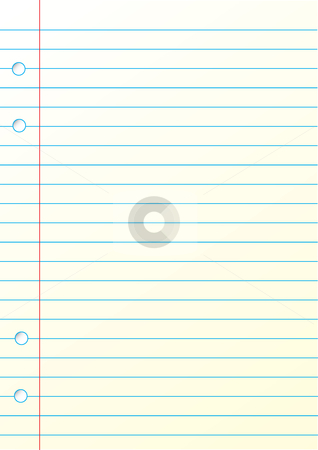 Blank notepad stock vector clipart, This is a blank notepad for your thinks. by Veronika Pilatova
