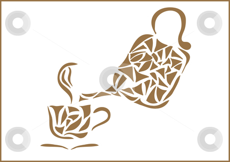 Coffe stock vector clipart, This is a cup and jug. by Veronika Pilatova