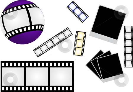 Film stock vector clipart, This is set of film elements by Veronika Pilatova