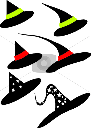 Hat stock vector clipart, This is a set of hat of wizard by Veronika Pilatova