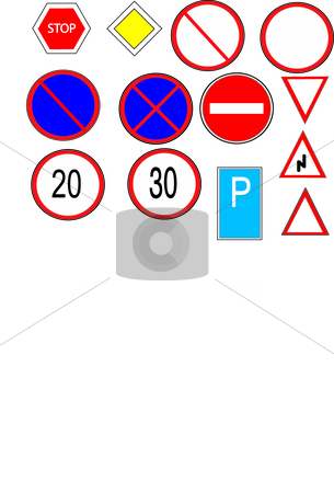 Traffic sign stock vector clipart, This is a set of traffic sign by Veronika Pilatova