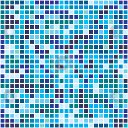 Blue pixels stock vector clipart, This is a pixel background in blue tone by Veronika Pilatova