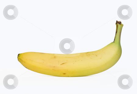 Banana stock photo, Sigle banana isolated on white background by ANTONIO SCARPI