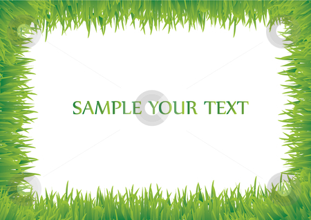 Grass frame stock vector clipart, This is a grass frame with your text by Veronika Pilatova