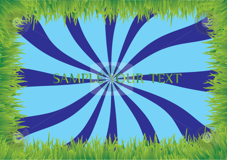 Grass frame with sky stock vector clipart, Grass frame with blue sky by Veronika Pilatova