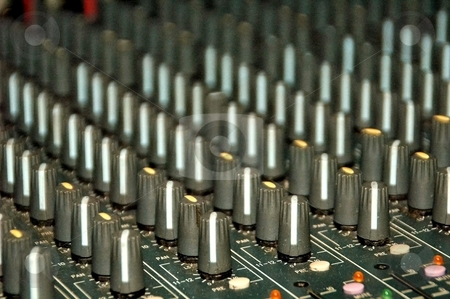 Mixer Board 01 stock photo, This is Mixer to control all aspects of the sound on stage. by Joe Shortridge