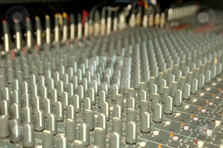 Mixer Board 04 stock photo, This is Mixer to control all aspects of the sound on stage. by Joe Shortridge