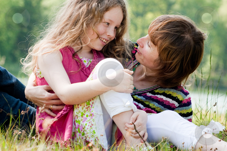 Having fun with my mother stock photo, Mother and daughter have a happy time together by Frenk and Danielle Kaufmann