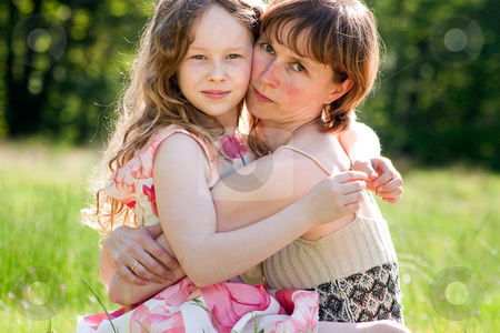 Our close releationship stock photo, Mother and daughter have a happy time together by Frenk and Danielle Kaufmann