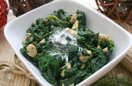 Fresh spinach stock photo, Fresh spinach by Yvonne Bogdanski
