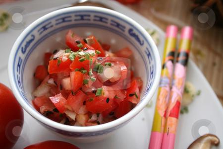 Fresh salad stock photo, Fresh salad of tomatoes by Yvonne Bogdanski