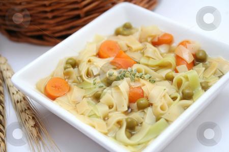 Soup of noodles stock photo, Soup of noodles by Yvonne Bogdanski