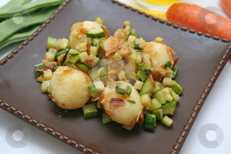 Vegetables stock photo, Potatoes and zucchinis by Yvonne Bogdanski