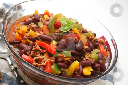 Chili con carne stock photo, Chili con carne by Yvonne Bogdanski