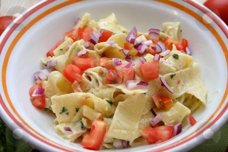 Fresh pasta stock photo, Fresh italian pasta by Yvonne Bogdanski