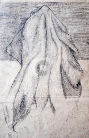 Drapery stock photo, My drawing of drapery by Sarka