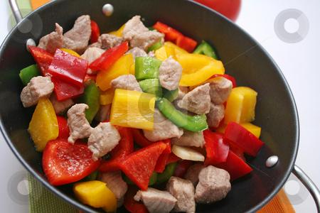 Meat and paprika stock photo, Meat and paprika by Yvonne Bogdanski