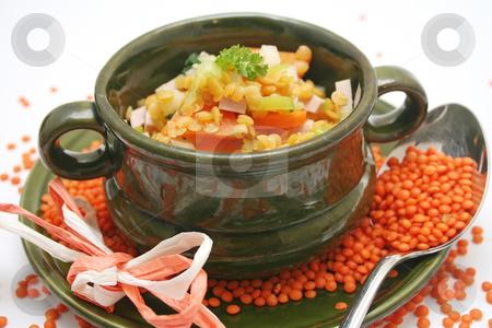 Fresh stew stock photo, A fresh stew of red lentils by Yvonne Bogdanski
