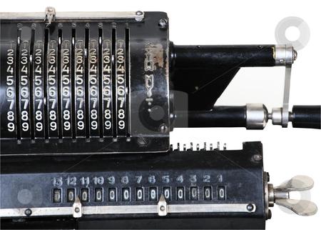 Retro adding machine stock photo,  by Mikhail Egorov