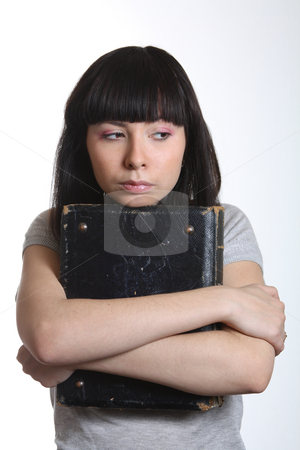 Teen with book stock photo,  by Mikhail Egorov