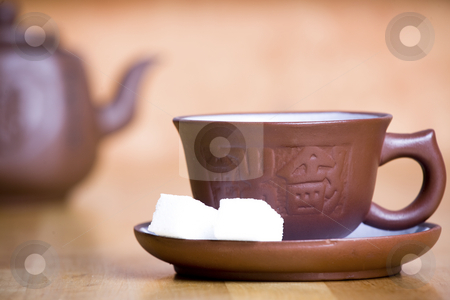 Porcelain cup stock photo,  by Mikhail Egorov