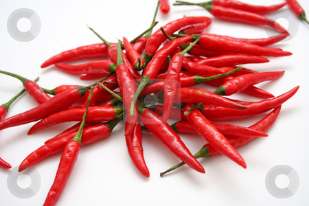 Fresh chilis stock photo, Fresh chilis by Yvonne Bogdanski