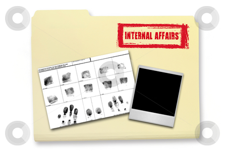 Internal Affairs Investigation Elements stock photo, Internal Affairs Investigation Elements in a Folder by Katrina Brown
