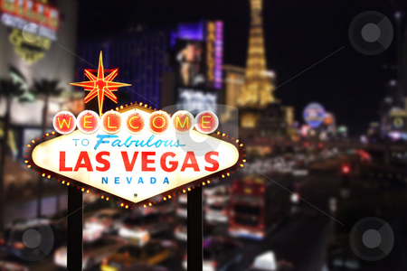 Welcome to Las Vegas Nevada stock photo, Welcome to Las Vegas Nevada With Strip in the Background by Katrina Brown