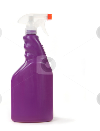 Purple Household Cleaning Bottle With Copy Space stock photo, Purple Household Cleaning Bottle With Copy Space on White Background by Katrina Brown
