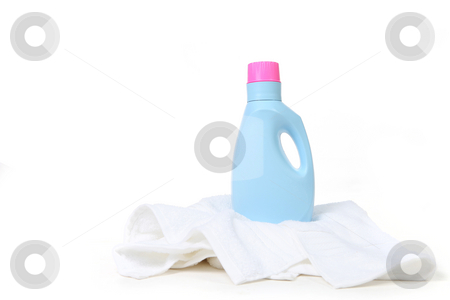 Laundry Detergent On Top of a Towel stock photo, Laundry Detergent On Top of a Towel With Copy Space by Katrina Brown