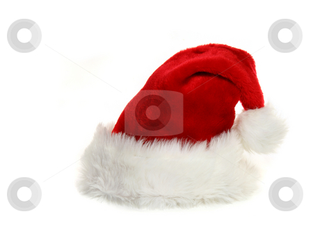 Santa Claus Hat on White stock photo, Isolated Santa Hat on White by Katrina Brown