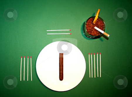 Dinner stock photo, Smoking lowers ur senses by Andrei Prakharevich