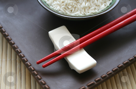 Asian chopsticks stock photo, Asian chopsticks by Yvonne Bogdanski