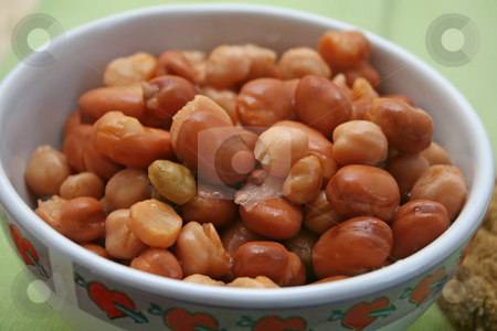 Vegetables stock photo, Chick peas and beans by Yvonne Bogdanski