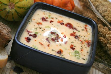 Fresh soup stock photo, Pumpkin soup by Yvonne Bogdanski