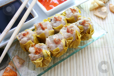 Wan tan stock photo, Asian food by Yvonne Bogdanski