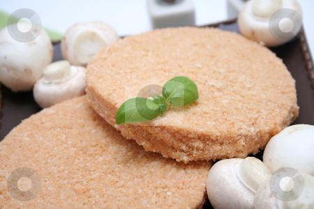Fresh meat stock photo, Fresh meat and mushrooms by Yvonne Bogdanski