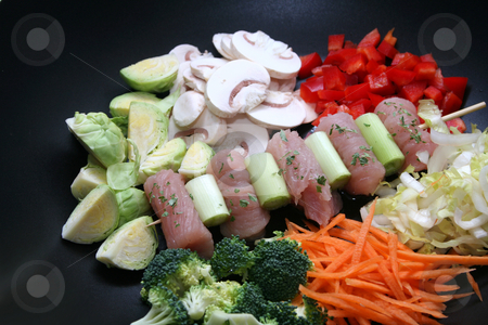 Meat and vegetables stock photo, Meat and vegetables by Yvonne Bogdanski