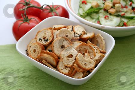 Bread snack stock photo, Ships of bread by Yvonne Bogdanski