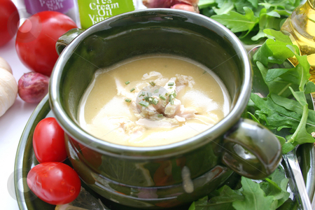 Fresh soup stock photo, Fresh soup of beans with chicken by Yvonne Bogdanski