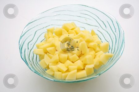 Fresh potatoes stock photo, Fresh potatoes by Yvonne Bogdanski