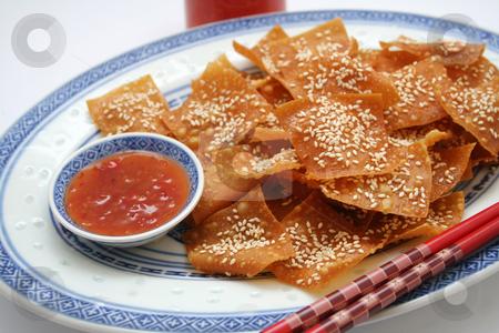 Wan tan stock photo, Asian cookies by Yvonne Bogdanski