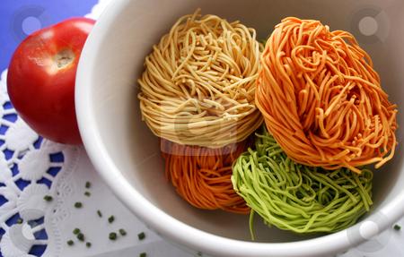 Asian noodles stock photo, Asian noodles by Yvonne Bogdanski