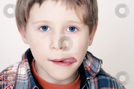 Sweet boy stock photo, Young boy by Yvonne Bogdanski