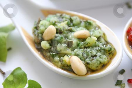 Italian pesto stock photo, Fresh pesto by Yvonne Bogdanski