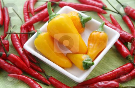 Fresh chilis stock photo, Fresh chilis by Yvonne Bogdanski