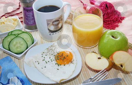 Breakfast stock photo, Breakfast by Yvonne Bogdanski