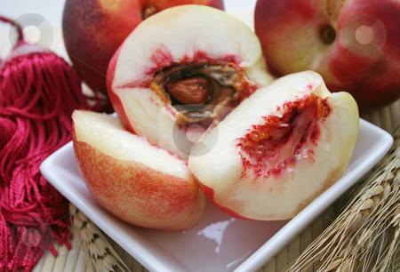 A peach stock photo, A peach by Yvonne Bogdanski