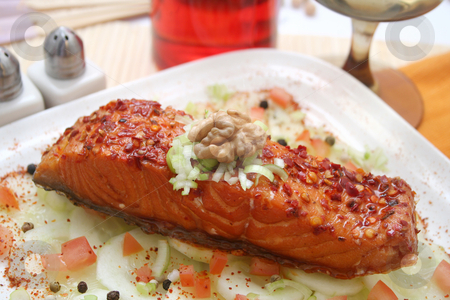 Salmon fish stock photo, Salmon fish by Yvonne Bogdanski