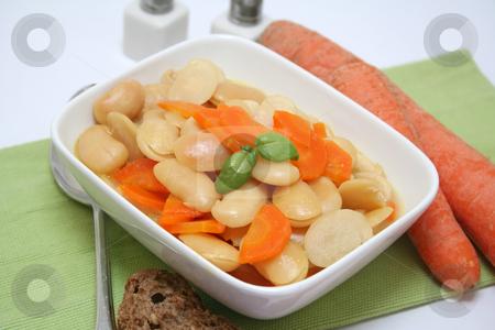 Fresh food stock photo, Fresh stew of beans and carrots by Yvonne Bogdanski